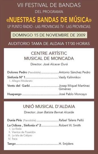 VII Festival Nuestras Bandas de Música -Programa hoja 2-