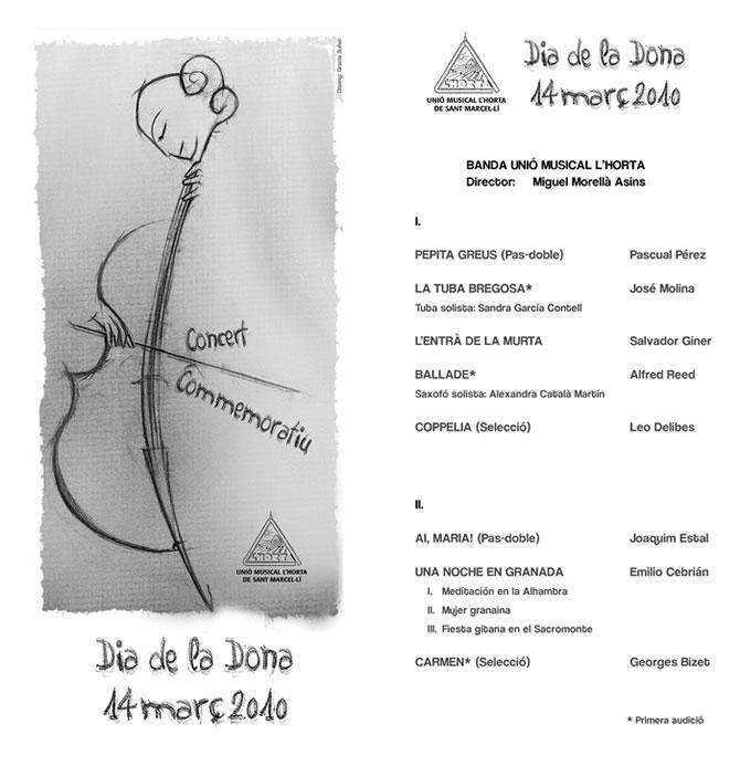 Programa concert Dia de la Dona Treballadora - Unió Musical Lhorta de Sant Marcel.lí