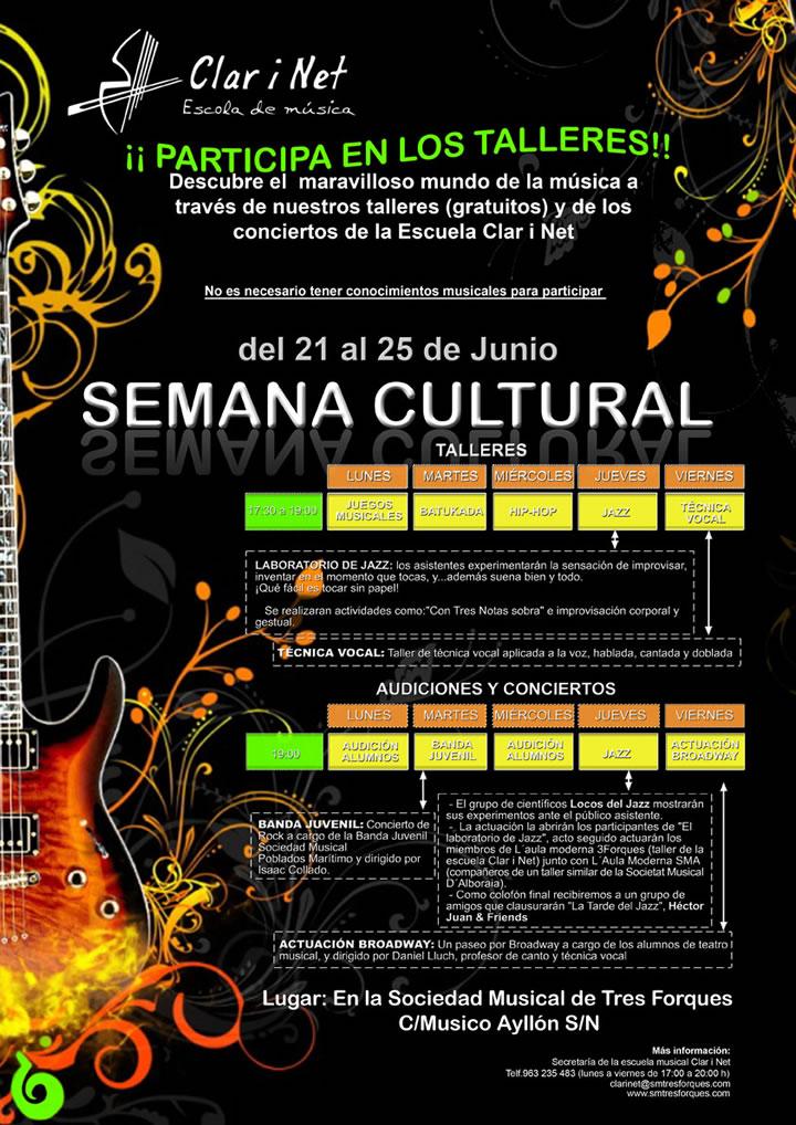 Concierto y Semana Cultural en la Unió Musical de Tres Forques