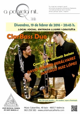 clar bass duo sant marcelli clarinet baix