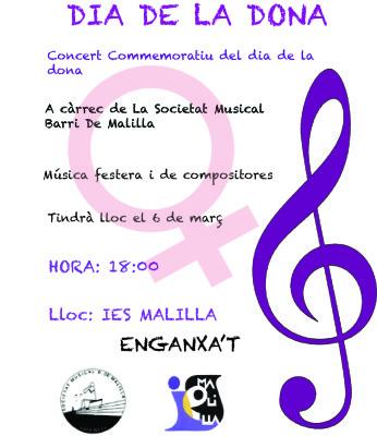 Concierto mujer '16 banda musica barri malilla