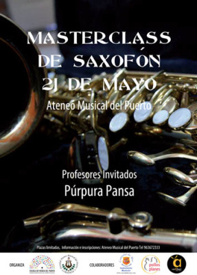 Masterclass saxo purpura pansa ateneu musical del port cosomuval