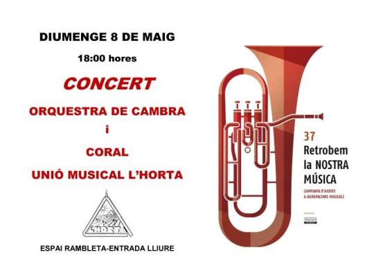 concert 8 maig orquestra coral unio musical horta sant marcelli rambleta