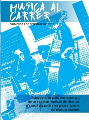 Música al carrer Justa del Districte Marítim bandes de la ciutat