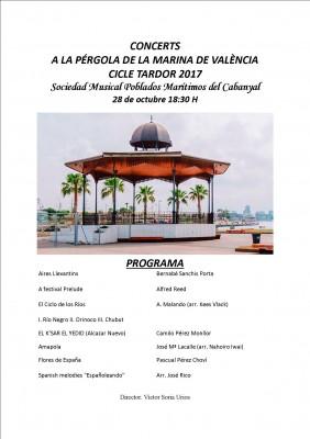 Cartel Pérgola Poblados Marítimos 28-10-17