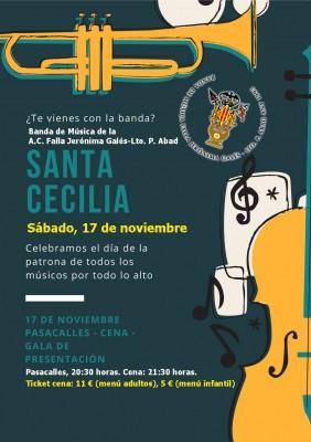 Cartel_STA. CECILIA 2018_Banda Jeronima Gales Lto Pascual Abad-001