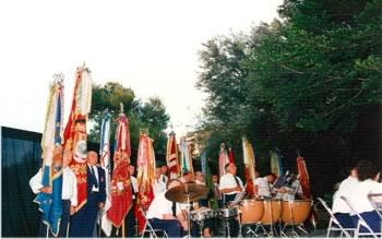 Banderas de las Sociedades pertenecientes a la Coordinadora de Bandas